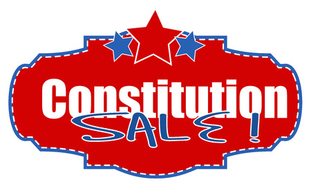 constitution day: Constitution Day Sale Banner Illustration
