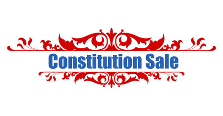 constitution day: Sale - Constitution Day Vector Illustration