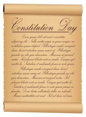 Scroll Parchment Vintage Paper - Constitution Day Vector Illustration Stock Vector - 22318518