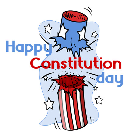 Clipart - Constitution Day Vector Illustration Stock Vector - 22318520