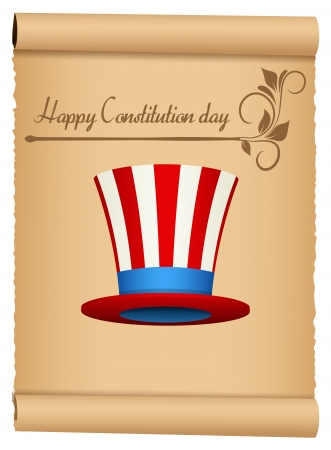 constitution day: Vintage Style - Constitution Day Vector Illustration