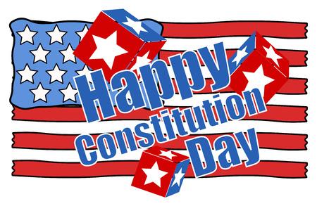 constitution day: Handmade - Constitution Day Vector Illustration Illustration