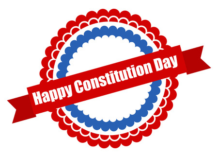 constitution day: Badge - Constitution Day Vector Illustration