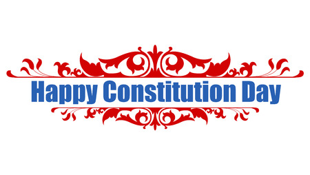 Feliz Día de la Constitución Ilustración Vector