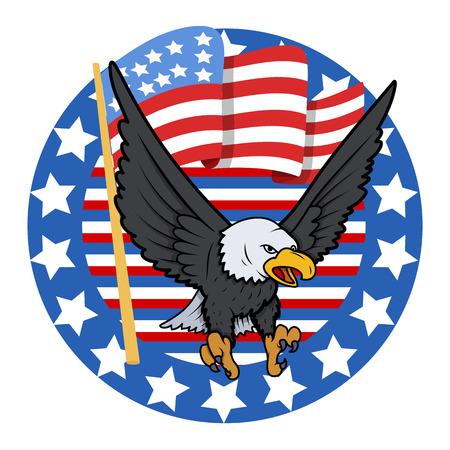 USA Theme Bald Eagle - Constitution Day Vector Illustration Stock Vector - 22318538