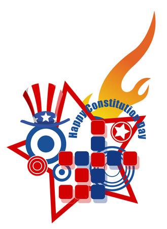 constitution day: Design - Constitution Day Vector Illustration