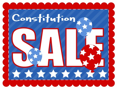 constitution day: sale coupon - Constitution Day Vector Illustration Illustration