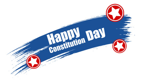 constitution day: grunge - Constitution Day Vector Illustration