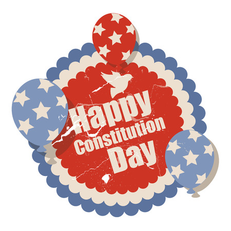 constitution: vintage - Constitution Day Vector Illustration