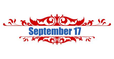 september 17 - Constitution Day Vector Illustration Stock Vector - 22318550