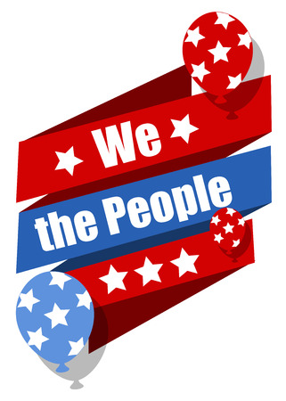 we the people: we the people - Constitution Day Vector Illustration Illustration