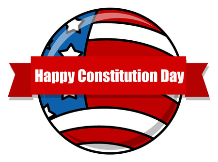constitution: happy - Constitution Day globe Vector Illustration Illustration