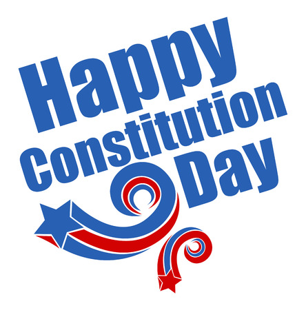 constitution day: Retro Stars Constitution Day Vector Illustration