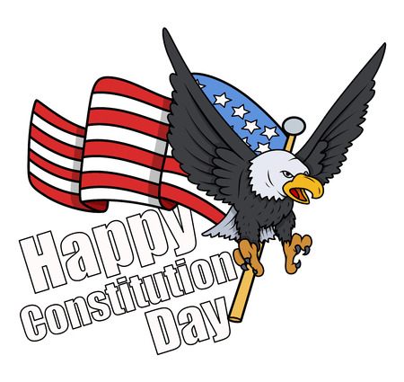 constitution: Greeting Style - Constitution Day Vector Illustration Illustration