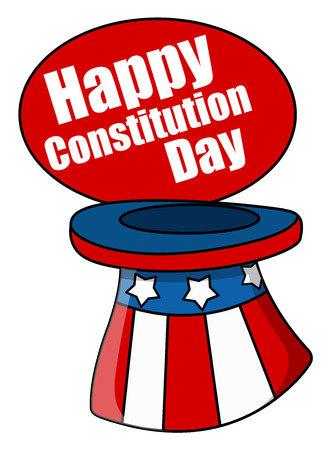 constitution: Uncle sam hat - Constitution Day Vector Illustration Illustration