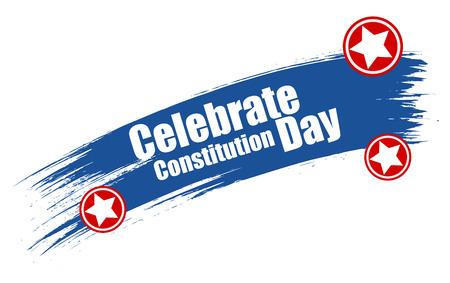 constitution day: grunge stroke banner - Constitution Day Vector Illustration Illustration
