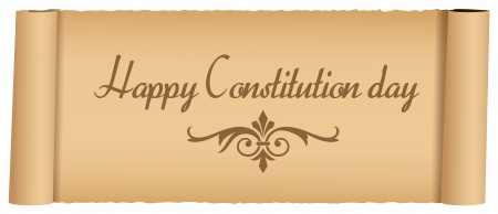 constitution: Old Message Constitution Day Vector Illustration Illustration