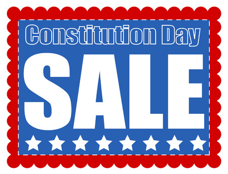 constitution day: Sale coupon banner - Constitution Day Vector Illustration Illustration