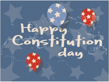 constitution day: old grunge background - Constitution Day Vector Illustration