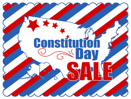 constitution: sale background - Constitution Day Vector Illustration