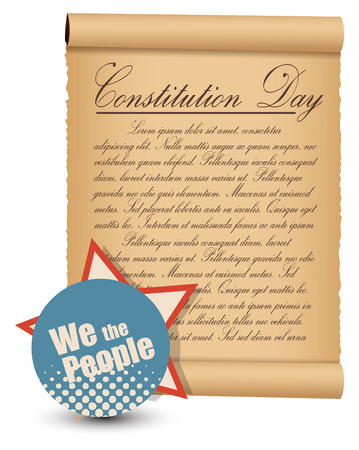 vintage style - Constitution Day Vector Illustration Stock Vector - 22318568