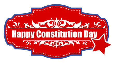 Badge sticker for Constitution Day Vector Illustration Stock Vector - 22318571