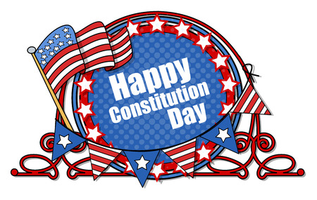constitution: Happy Constitution Day Vector Illustration