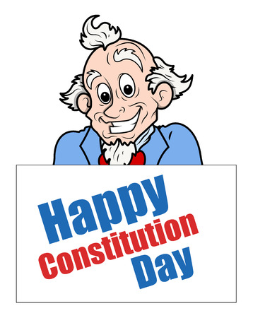 constitution: Uncle sam - Constitution Day Vector Illustration