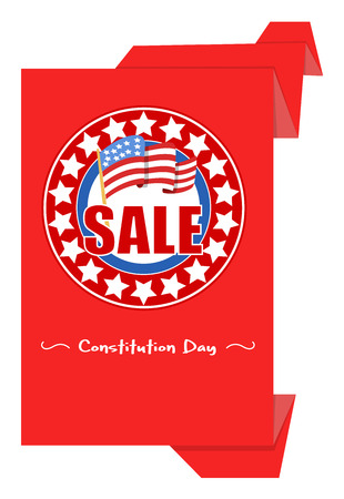 sale origami paper banner - Constitution Day Vector Illustration Stock Vector - 22318576