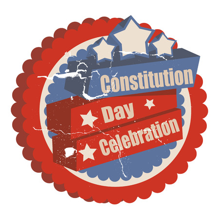 i want you: Celebration - Constitution Day Vector Illustration Illustration