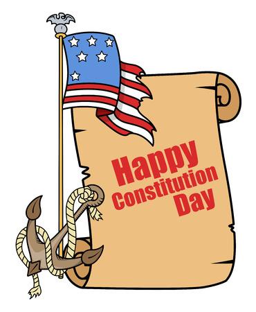 Tattoo Cartoon style - Constitution Day Vector Illustration Stock Vector - 22318579