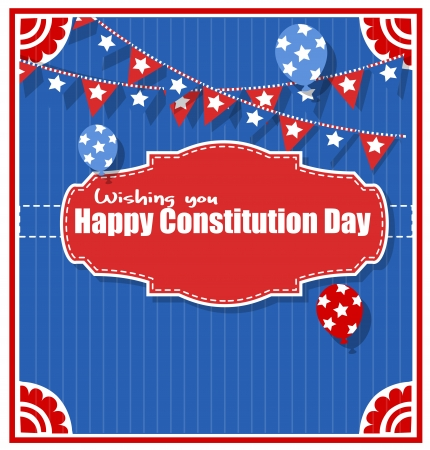 constitution: Wishings - Constitution Day Vector Illustration Illustration