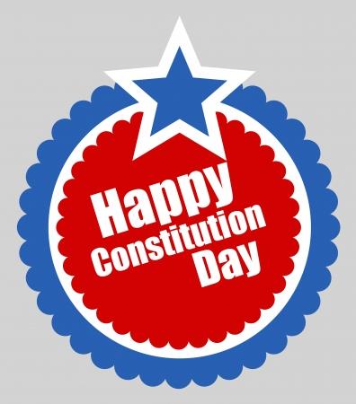 constitution day: Circular design - Constitution Day Vector Illustration