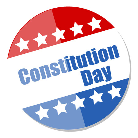 constitution day: Voting Badge style - Constitution Day Vector Illustration