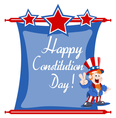 constitution day: happy uncle sam wishing - Constitution Day Vector Illustration Illustration