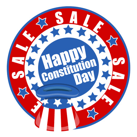 i want you: happy sale - Constitution Day Vector Illustration