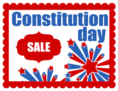 constitution day: sale banner - Constitution Day Vector Illustration Illustration