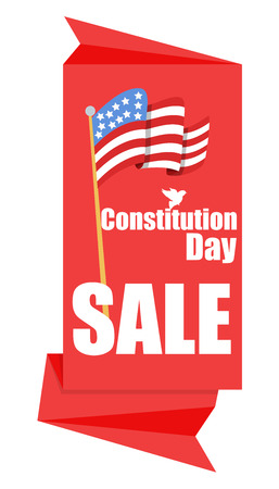 constitution day: origami sale banner for Constitution Day Vector Illustration Illustration