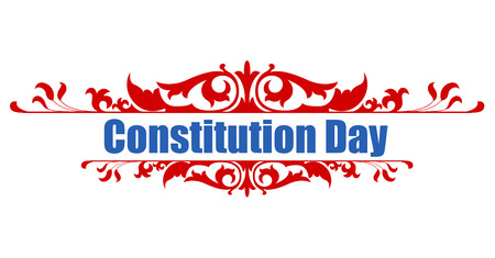 constitution: Victorian style - Constitution Day Vector Illustration