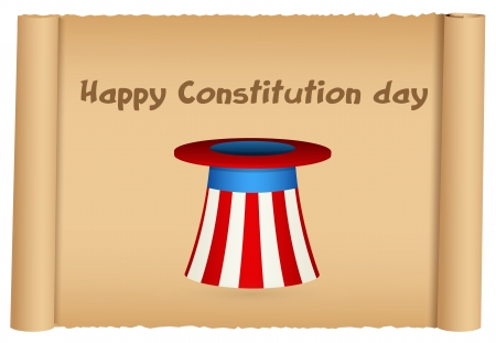 constitution day: Constitution Day Vector Illustration