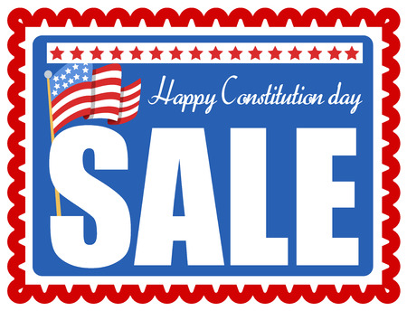 Sale Coupon - Constitution Day Vector Illustration Stock Vector - 22318604