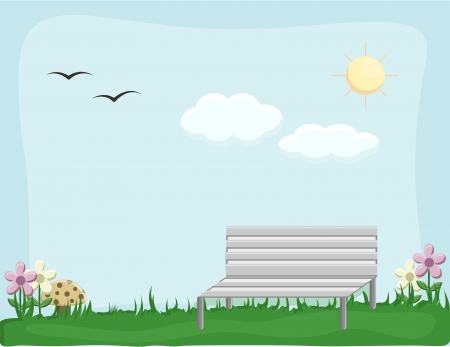 garden - Cartoon Background Vector Vector