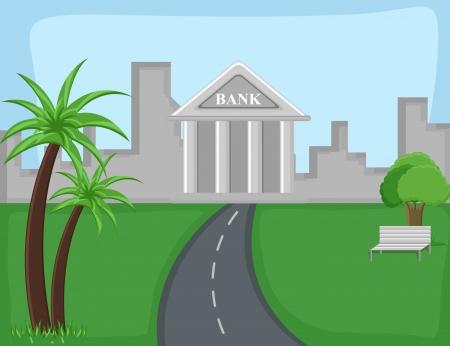 bank - Cartoon Background Vector Vector