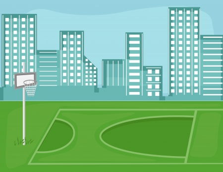 playground - Cartoon Background Vector Vector