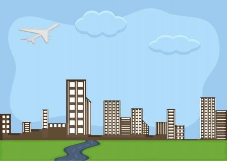 urban city - Cartoon Background Vector Vector