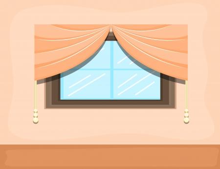 window - Cartoon Background Vector Vector