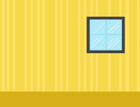 glass house: Room - Cartoon Background Vector Illustration