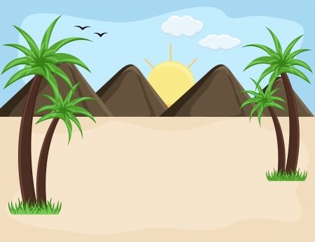 Mountain landscape - Cartoon Background Vector Vector