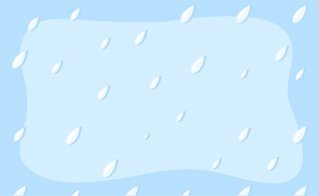 rain drops - Cartoon Background Vector Vector