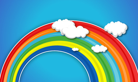 arcoiris caricatura: Cartoon Rainbow Nube